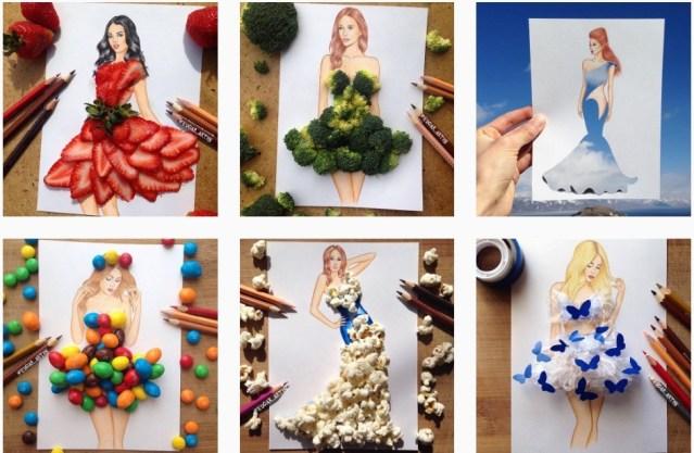 Ilustrando la moda con comida: Edgar Artis