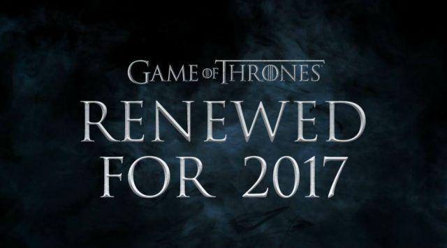 Confirmada séptima temporada de Game of Thrones