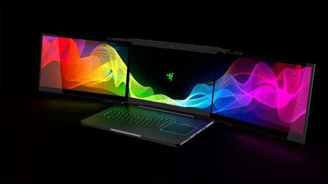 Presentan laptop de tres pantallas en el CES 2017 de Las Vegas