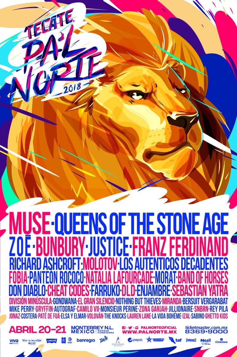 Ahora sí, ya es oficial: Cartel del festival Pa'l Norte 2018