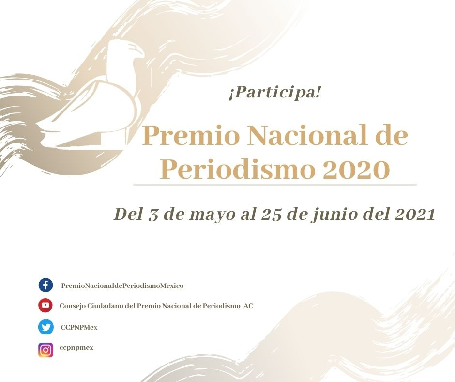 Abren la convocatoria para el Premio Nacional de Periodismo 2020 y presentan al jurado