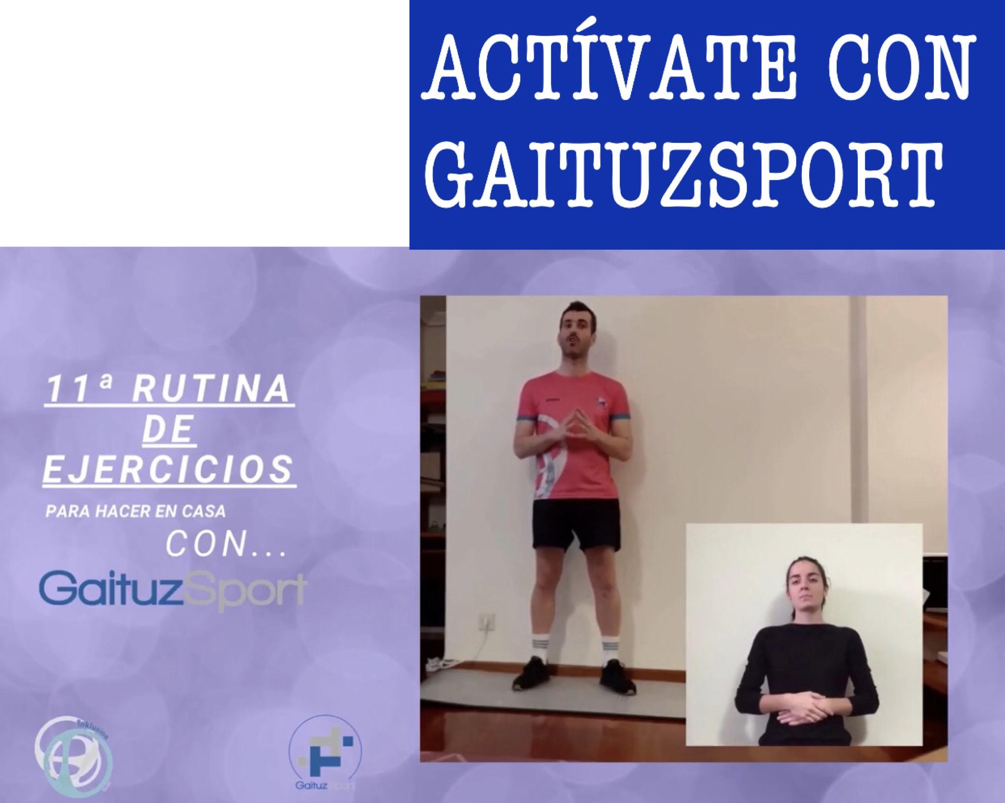 Rutina 11 Actívate con GaituzSport