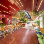 Gajah Bumi Restaurant Design Ideas With Red Color