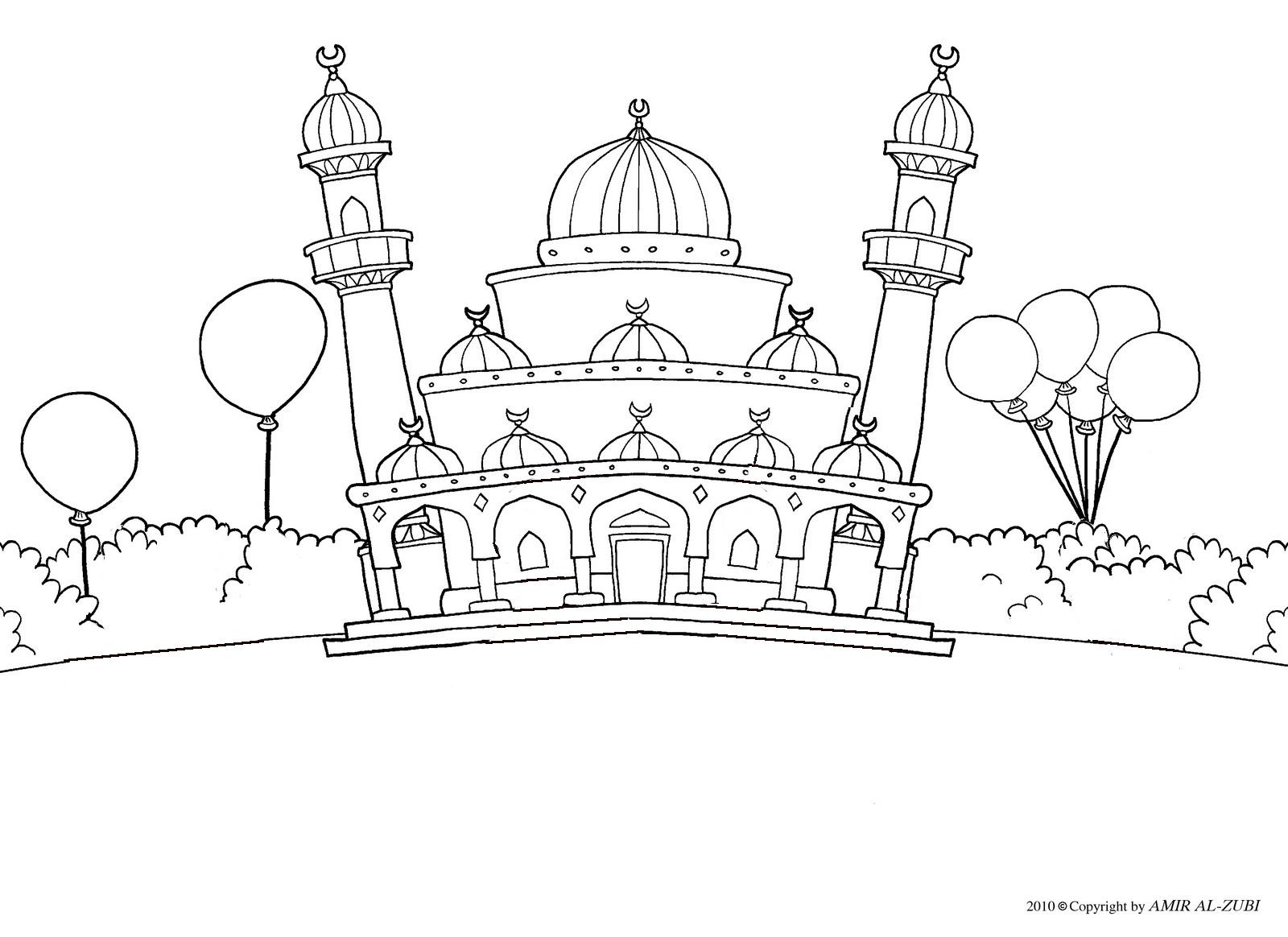 Gambar Mewarnai Masjid Gambar Mewarnai 14 Modern Home Revolution