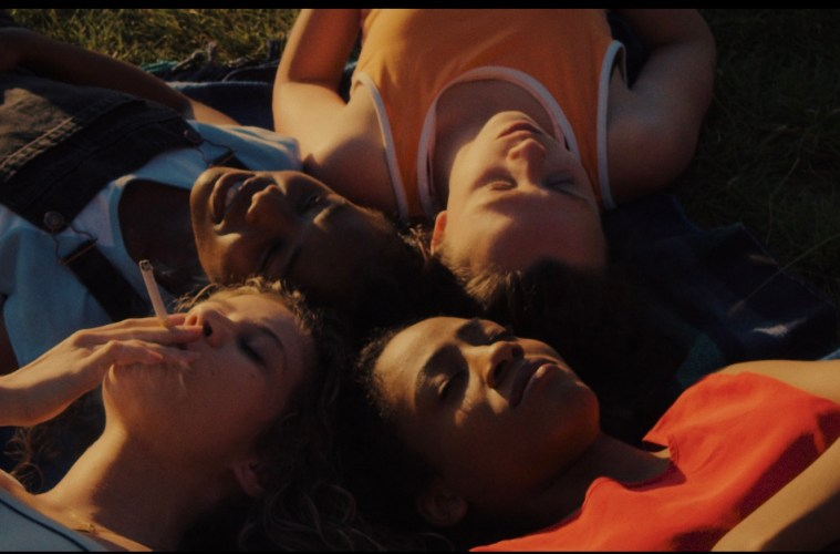 Still from BLOOM (L - R) Georgia James, Lasharne Anderson, Elizabeth Roberts, Candassaie Liburd