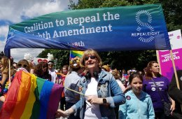 Banner says coalition to repeal the 8th amendment