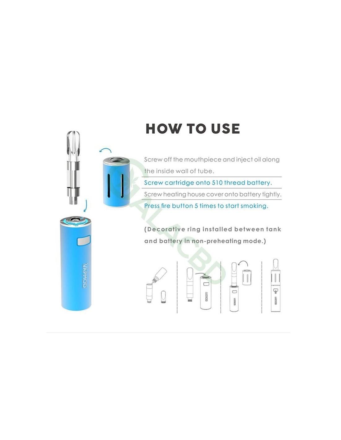 Vapmod Xtube 710 Vape Pen Starter Kit For Cbd Oil Thc Wax