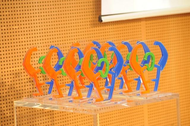 Le statuette del Gala del Triathlon