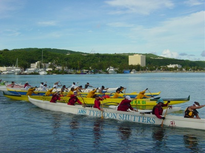 Imua Women race from the starting blocks