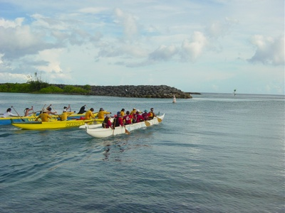 Imua Women leave the Boat Basin