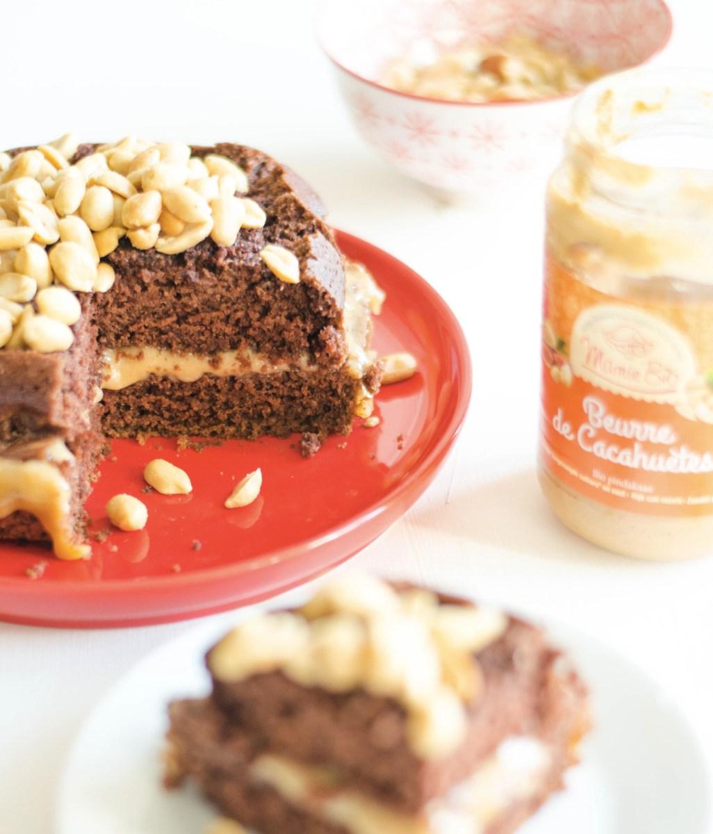Recette gâteau au chocolat & peanut butter végane et sans gluten