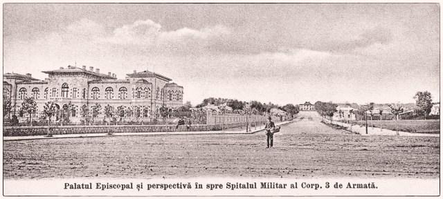 imagini vechi Galati - palatul episcopal - spitalul militar - 1904 antebelic