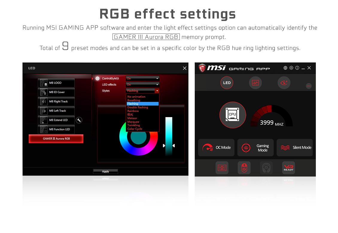 GALAX GAMER III DDR4 3000 16GB RGB GAMER RAM RAM