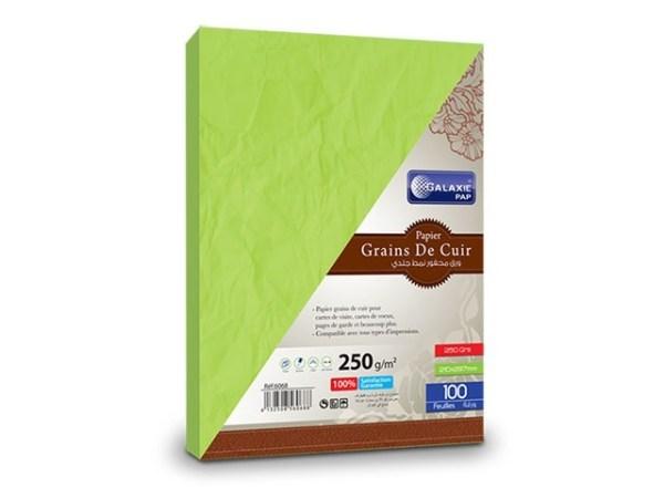 grains de cuir A4-100-vert