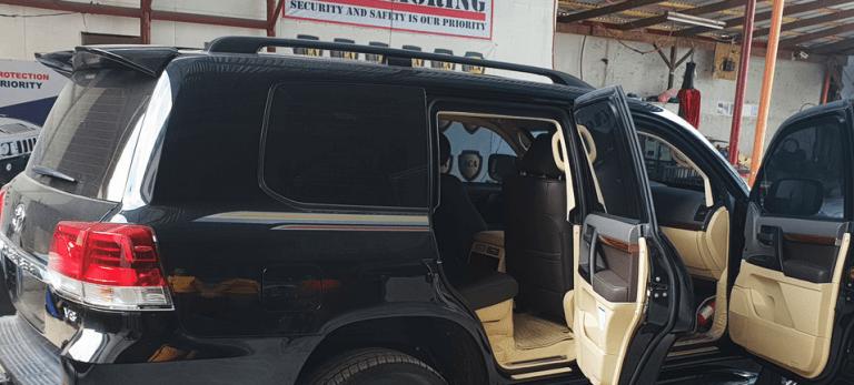 Inside Bobi Wine's pullet proof car