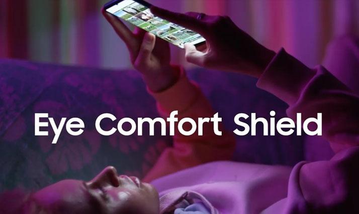 enable eye comfort shield on galaxy s21