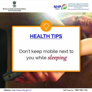 keep smartphone away when sleeping