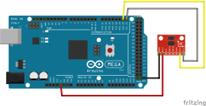 Interfacing ADXL345 Accelerometer with Arduino Mega