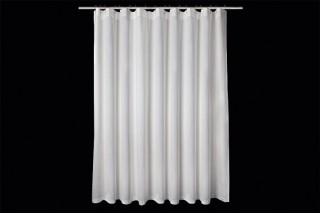 rideau de douche en lin blanc h210 x l225 cm