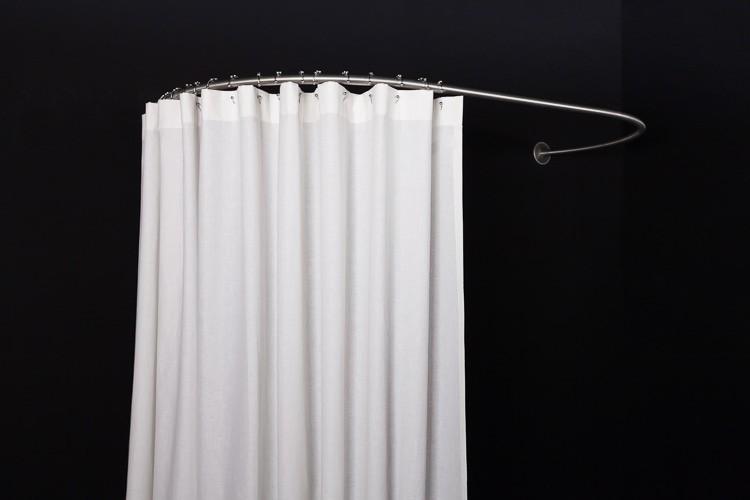 Oval Wall Shower Curtain Rod 80 160