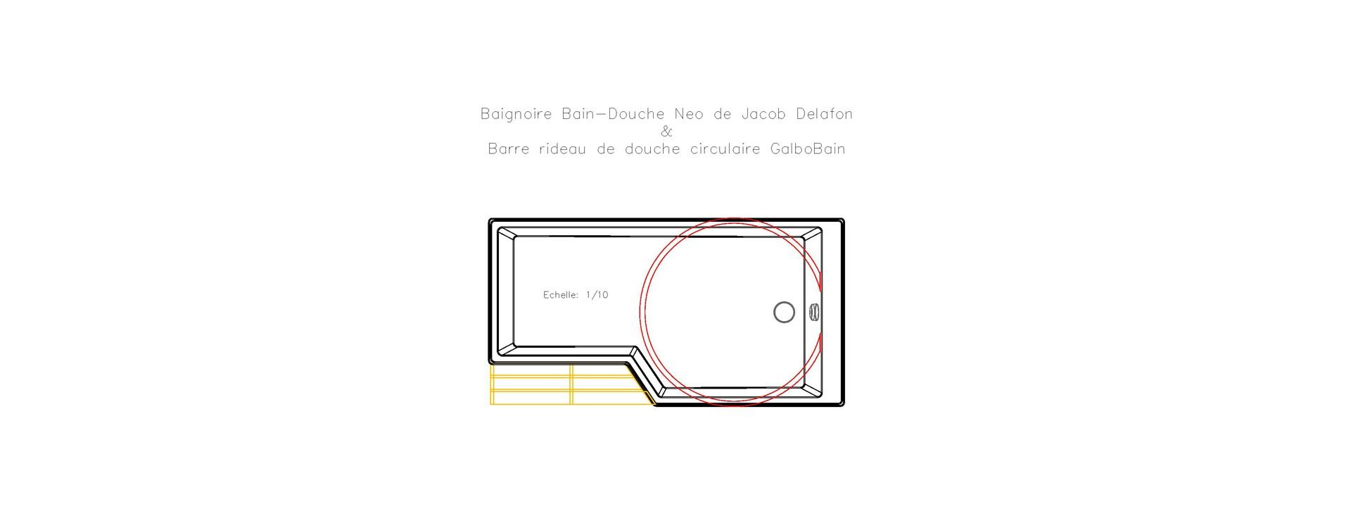 Baignoire Neo De Jacob Delafon Et Barre Circulaire