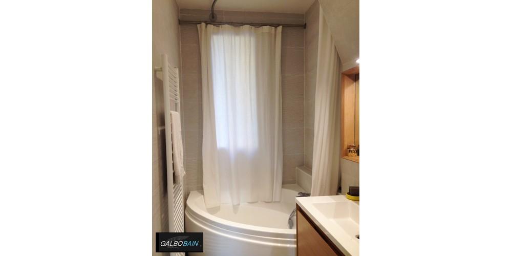 rideau de douche pour baignoire devant