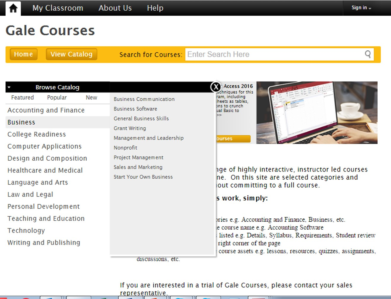Gale Courses