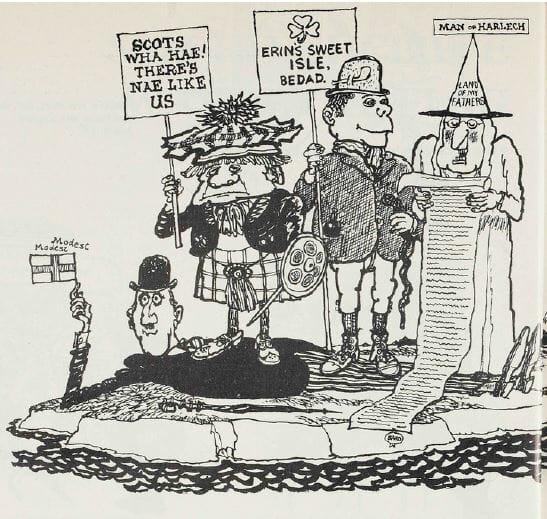 Modest Englishman cartoon (Punch)