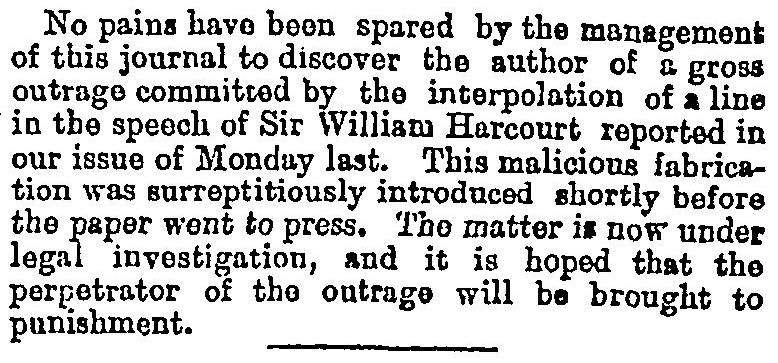 The Rogue Compositor at The Times in 1882