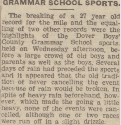 GRAMMAR SCHOOL SPORTS, Dover Express, 16th July 1948, British Library Newspapers