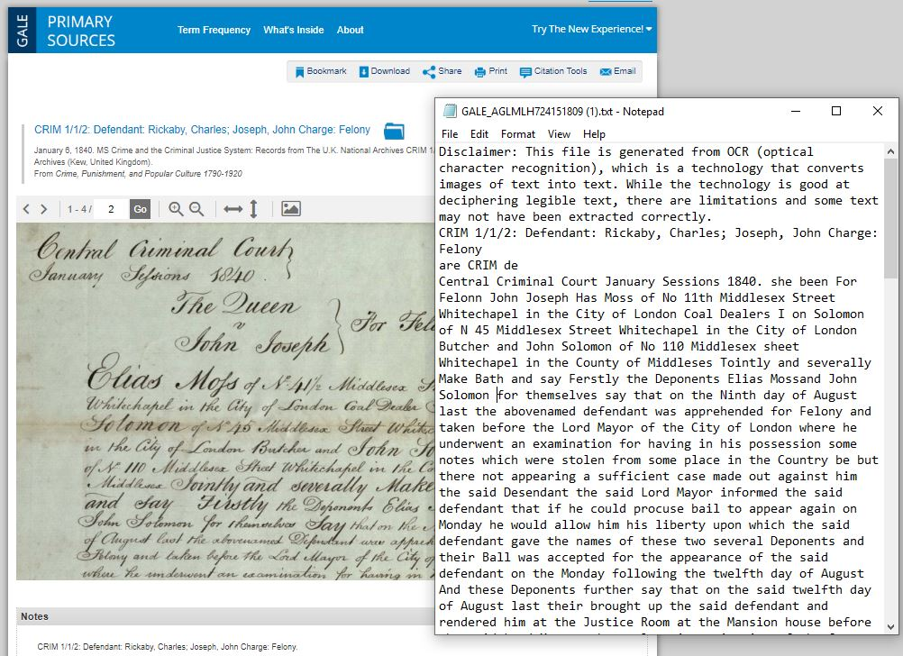 Criminality in Whitechapel – Using Hand Written Text Recognition technology to help examine villainy and justice in Victorian London