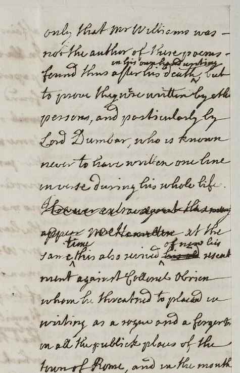 Draft of a letter from Dunbar to an unknown recipient, (December 1733). Source location: RA. SP MAIN 142/114B (3) State Papers Online, The Stuart and Cumberland Papers from the Royal Archives, Windsor Castle