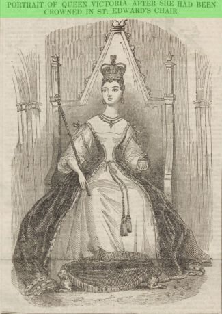 Portrait of Queen Victoria after She Had Been Crowned