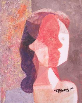 Romeo Tabuena Mujer Perfil Cubista 1962