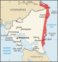 Costa de Mosquitos en Nicargua