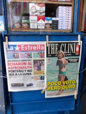 Titular diario Chileno sobre Evelyn Matthei 2013