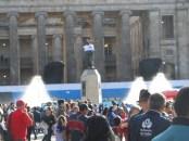 Camiseta de Bolivar en manifestación contra destitución de Gustavo Petro