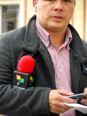 Telesur en manifestación contra destitución de Gustavo Petro