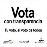 Vota con trasparencia