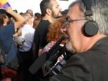 Medios cumbriendo Manifestación Tercera República