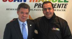 Juan Manuel Santos y Juan José Rendón