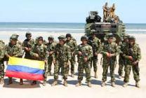 Ejército colombiano patrullando nuestros mares