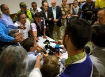 Luis Pérez reunido con los medios de comunicación