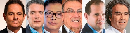 Candidatos presidenci Colombia 2018.
