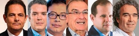 Candidatos presidenci Colombia 2018.