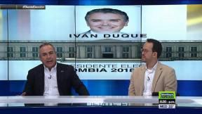 Sergio Iván Soto y Carlos Andrés Naranjo Sierra, analista político, en la transmisión del análisis de la segunda vuelta presidencial en Colombia.