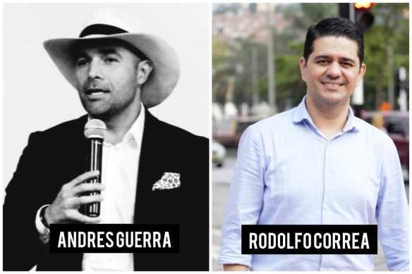 Andrés Guerra y Rodolfo Correa en la carrera por la Gobernación de Antioquia.