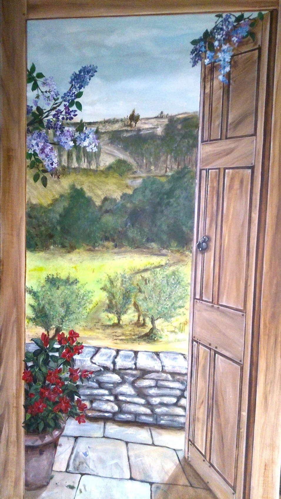 Peinture Trompe L Oeil Paysage
