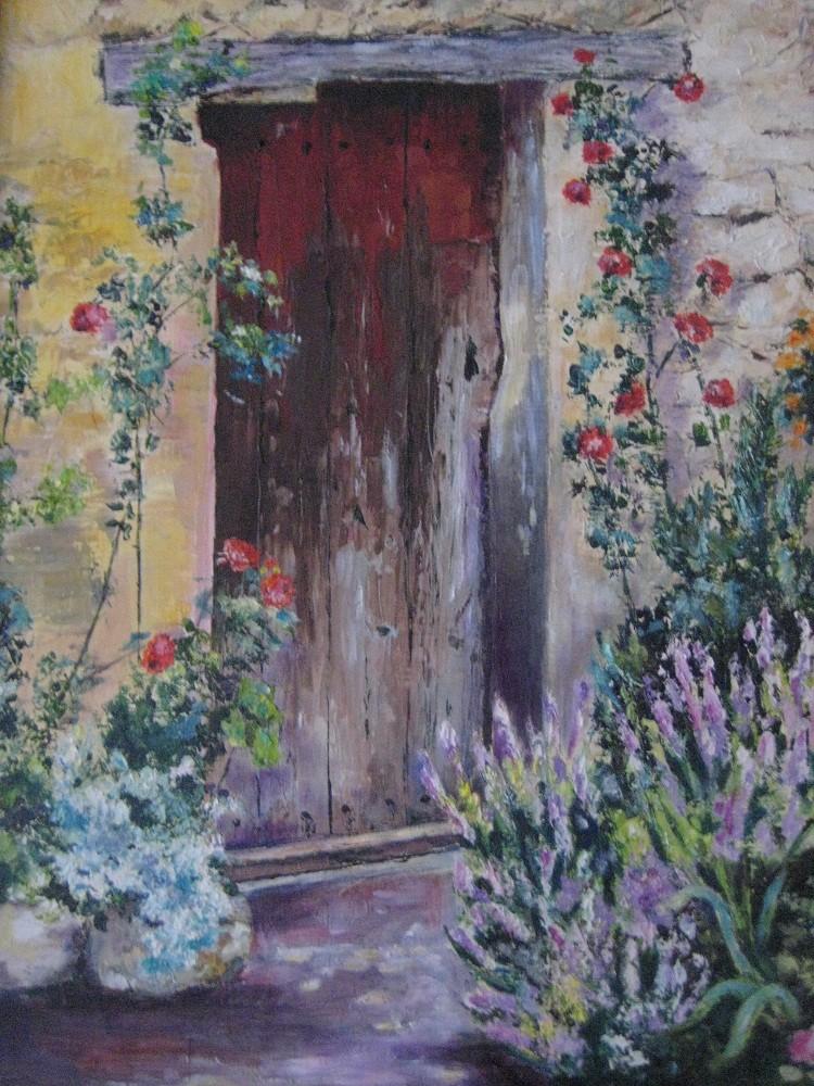Peinture Vieille Porte En Provence