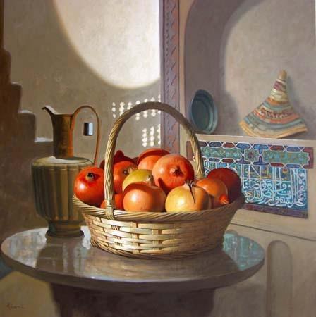 Peinture Nature Morte Aux Arabesques